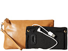 Mighty Purse Raw Cow Leather Wristlet (Almond Brown)