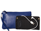 Mighty Purse Coated Cow Leather Charging Wristlet (Navy)