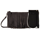 Mighty Purse Fringe X-Body Bag (Grey Suede Leather)