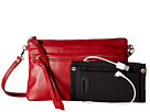 Mighty Purse Luxe Charging Crossbody (Red Cow Leather)