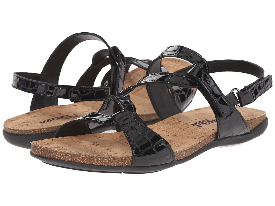 Vaneli Barmer Black Loc Karnak/Print Womens Wedge Shoes