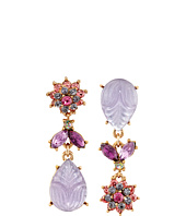 Betsey Johnson - Fall Follies Flower Non-Matching Earrings