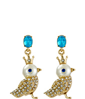 Betsey Johnson - Pearl Critters Bird Drop Earrings