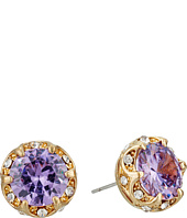 Betsey Johnson - Fall Follies Purple Stud Earrings
