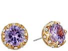 Betsey Johnson - Fall Follies Purple Stud Earrings