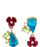 Betsey Johnson - Bauble Flower Non-Matching Earrings