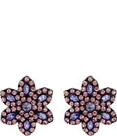 Betsey Johnson - Panther Flower Button Earrings