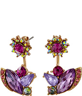 Betsey Johnson - Fall Follies Flower Front/Back Earrings