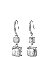 Betsey Johnson - CZ Halo Drop Earrings