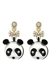 Betsey Johnson - Pearl Critters Panda Drop Earrings