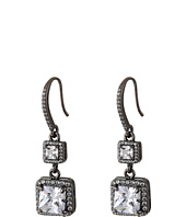 Betsey Johnson - CZ Black Diamond Drop Earrings