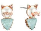 Betsey Johnson - Pearl Critters Cat Stud Earrings