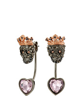 Betsey Johnson - Bauble Skull Front/Back Earrings