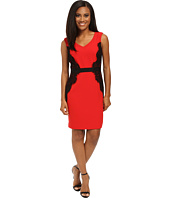 Tahari by ASL Petite - Petite Crepe/Lace Detail Sheath
