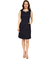 Tahari by ASL Petite - Petite Jacquard with Necklace Dress