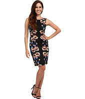 Tahari by ASL Petite - Petite Scuba Mirror Print Sheath Dress