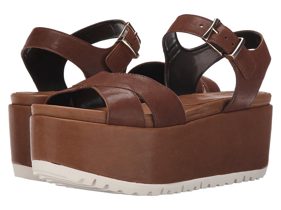 Stuart Weitzman Crosspath Walnut Vecchio Nappa Womens Shoes