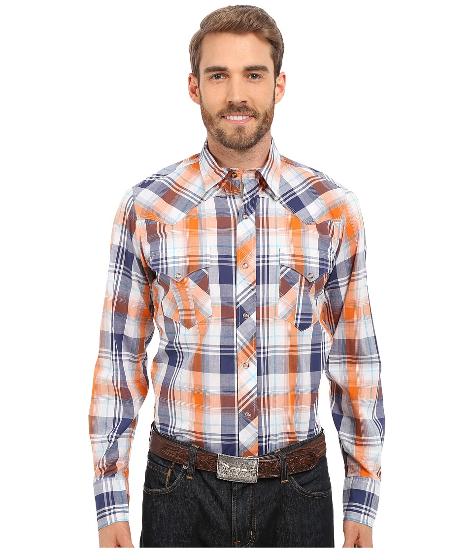 Roper 0189 Relic Plaid Blue Mens Long Sleeve Button Up