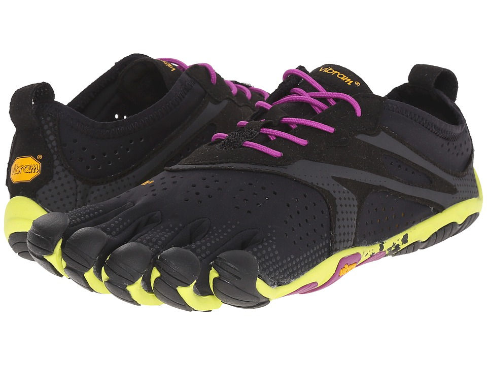 Vibram FiveFingers - V-Run (Black/Yellow/Purple) Womens Shoes