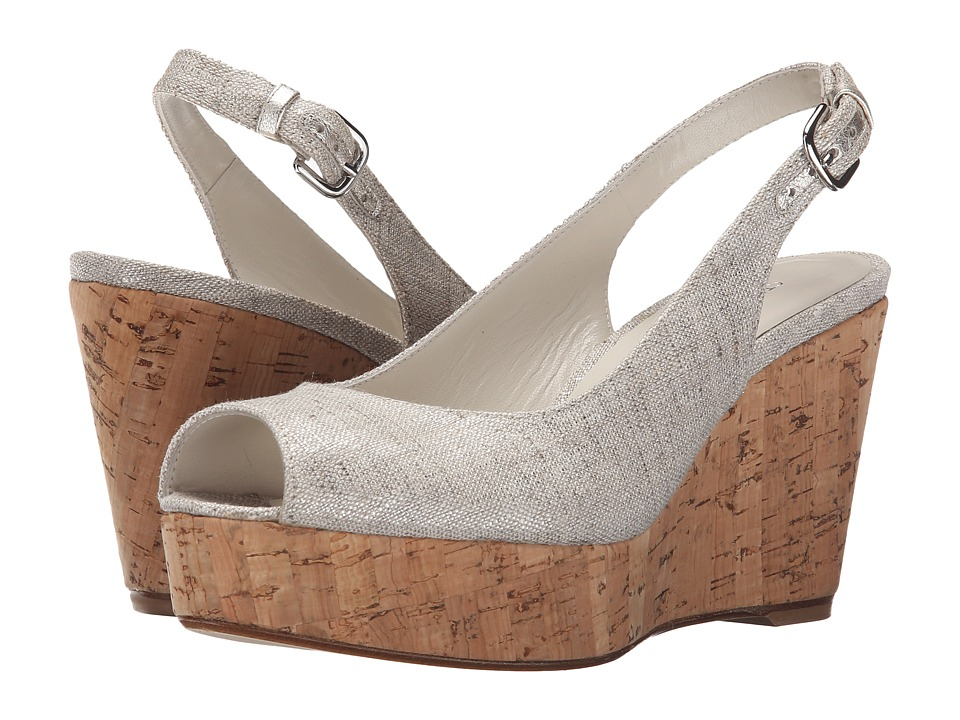 Stuart Weitzman Jean Plata Summer Linen Womens Shoes