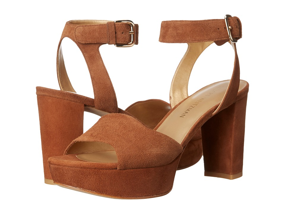 Stuart Weitzman Realdeal (Saddle Suede) Wedge Shoes