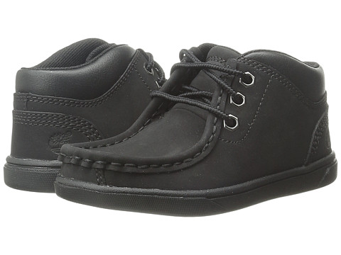 Timberland Kids Groveton Leather Moc Toe (Toddler/Little Kid) - Black