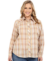 Roper - Plus Size Earth Tone Plaid with Embroidery