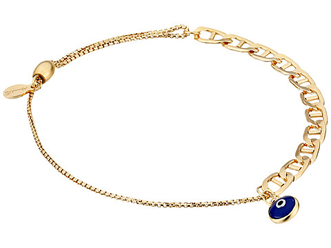 Alex and Ani Evil Eye Flat Mariner Pull Chain Bracelet - 14Kt Gold Filled