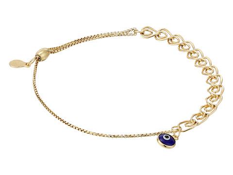 Alex and Ani Evil Eye Heart Pull Chain Bracelet - 14Kt Gold Filled