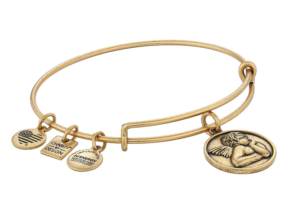 Alex and Ani - Charity by Design - Cherub Expandable Charm Bangle Bracelet (Rafaelian Gold) Charms Bracelet