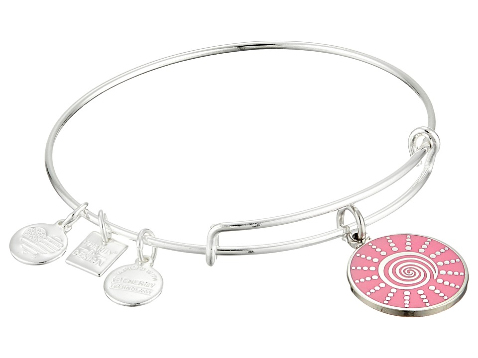 Alex and Ani - Charity by Design - Spiral Sun Expandable Charm Bangle Bracelet (Shiny Silver) Charms Bracelet