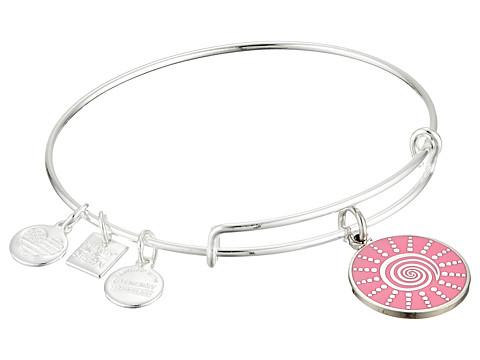 Alex and Ani Charity by Design - Spiral Sun Expandable Charm Bangle Bracelet - Shiny Silver