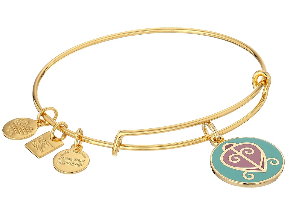 Alex and Ani - Charity by Design - The Way Home Expandable Charm Bangle Bracelet (Shiny Gold) Charms Bracelet