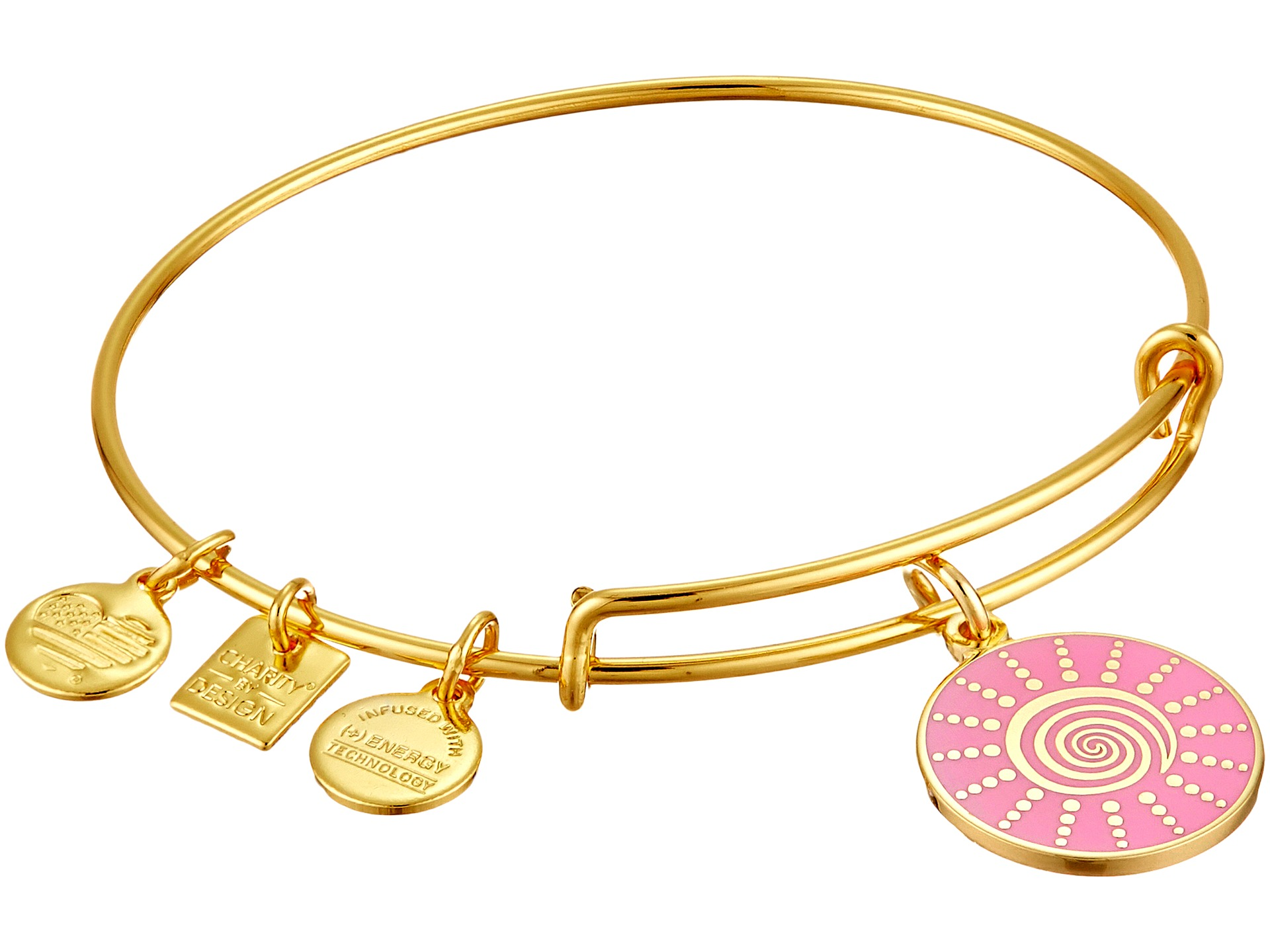 Alex And Ani Charity By Design  Spiral Sun Expandable Charm Bangle Bracelet  At Zappos