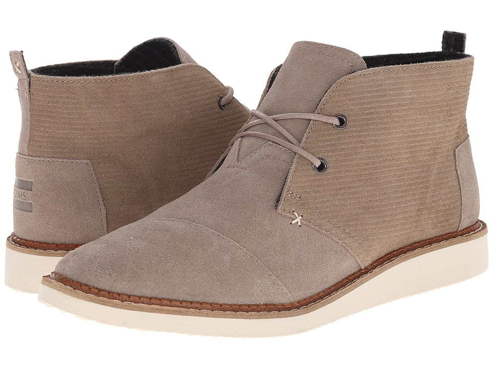 TOMS Mateo Chukka Boot (Desert Taupe Embossed Suede) Men