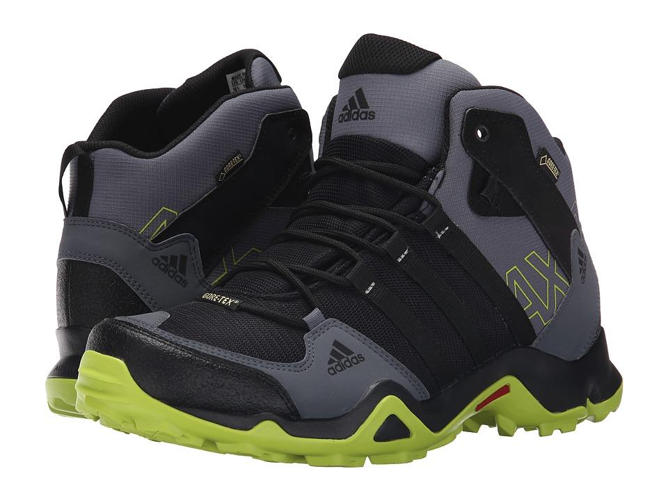 adidas Outdoor - AX 2 Mid GTX (Black/Semi Solar Slime/Onix) Men