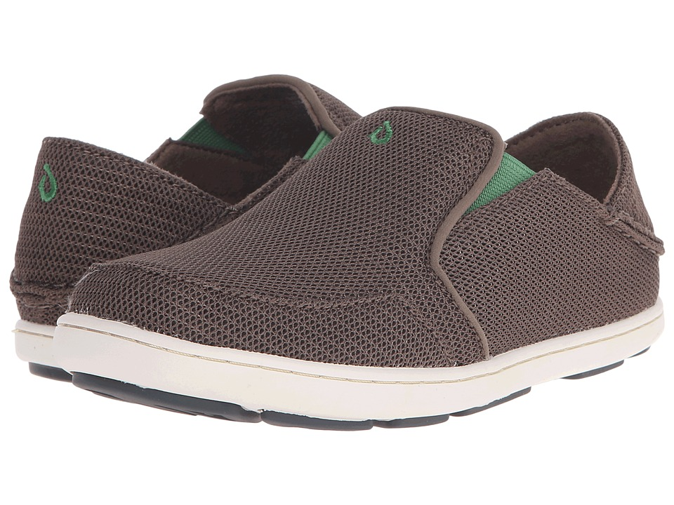OluKai Kids Nohea Mesh Toddler/Little Kid/Big Kid Mustang/Cane Green Boys Shoes