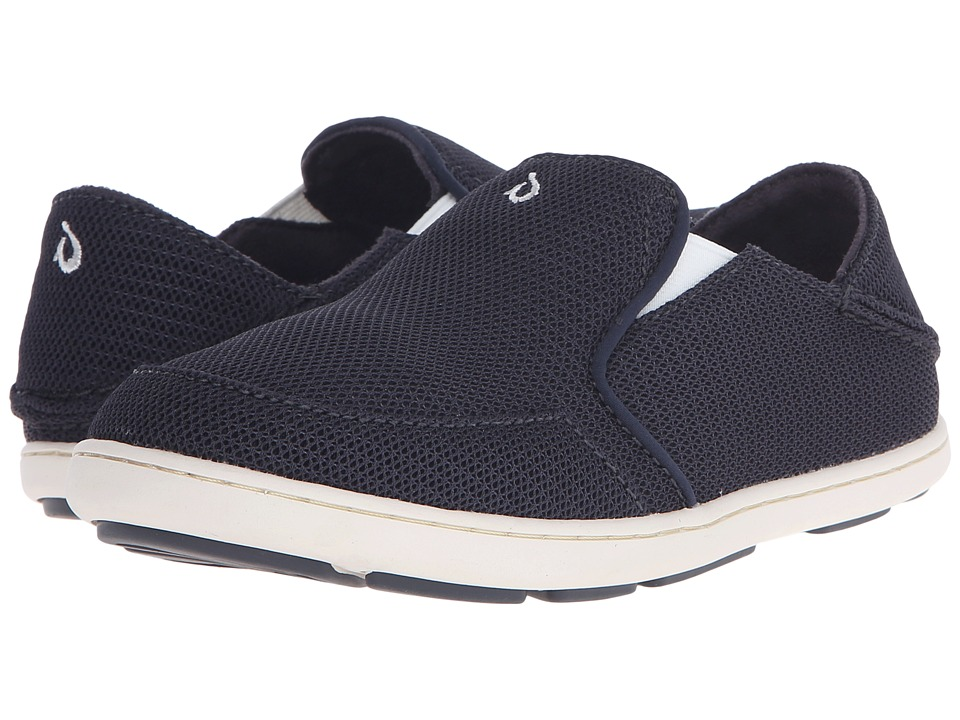 OluKai Kids Nohea Mesh Toddler/Little Kid/Big Kid Carbon/Off White Boys Shoes