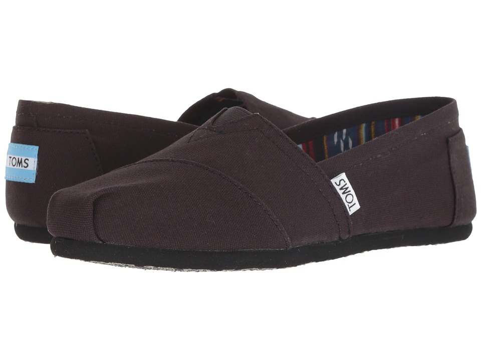 TOMS Classics (Black on Black Canvas) Slip-On Shoes