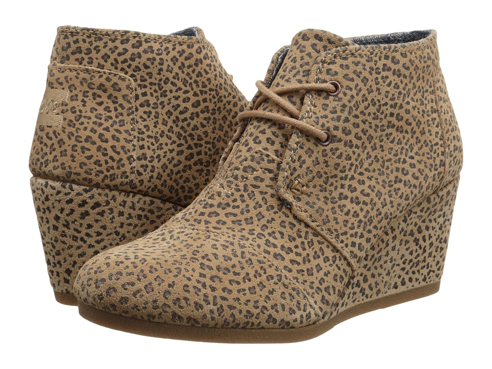 TOMS - Desert Wedge (Cheetah Suede Printed) Women