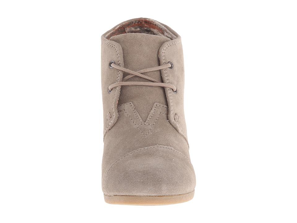 toms desert wedge s wedge booties suede shoes