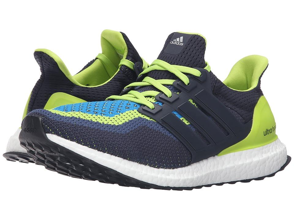 adidas Running - Ultra Boost M (Semi Solar Slime/Night Navy/Shock Blue) Men
