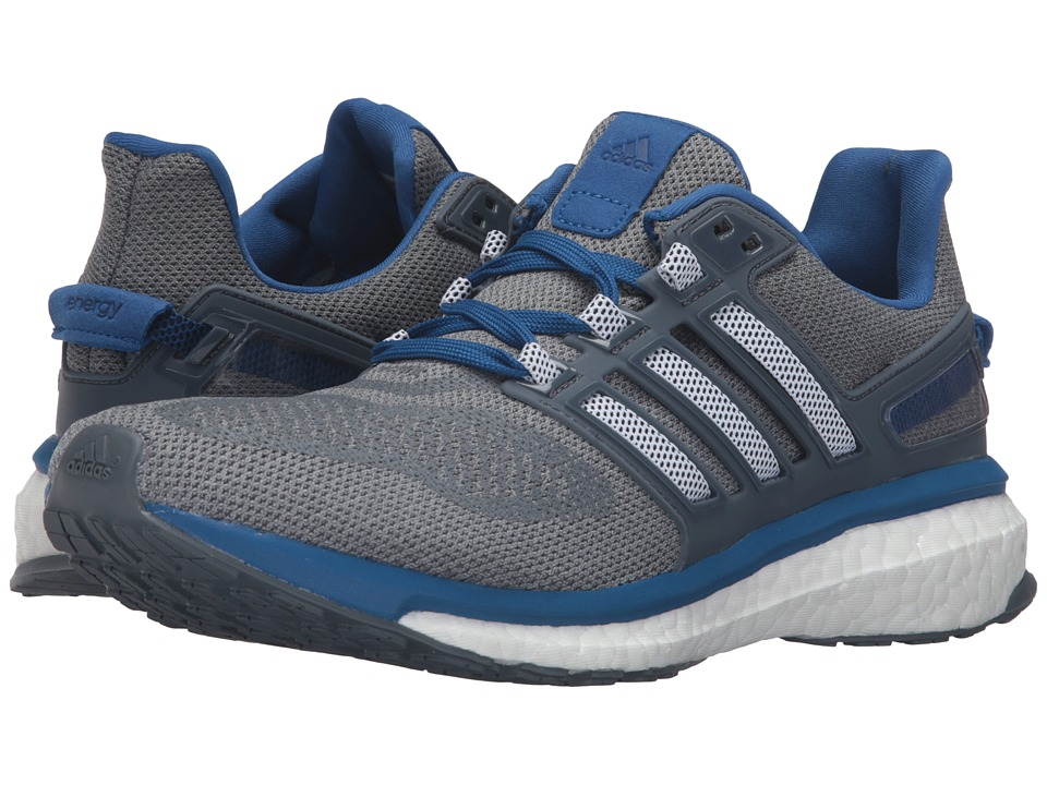adidas Running Energy Boost 3 Mid Grey/Black/EQT Blue Mens Running Shoes