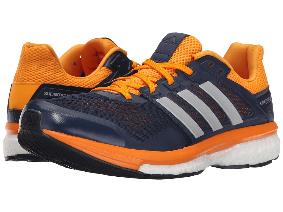 adidas Running Supernova Glide 8 Collegiate Navy/Matte Silver/EQT Orange Mens Running Shoes