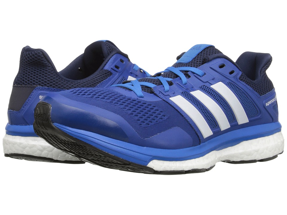 adidas Running - Supernova Glide 8 (EQT Blue/White/Collegiate Navy) Men