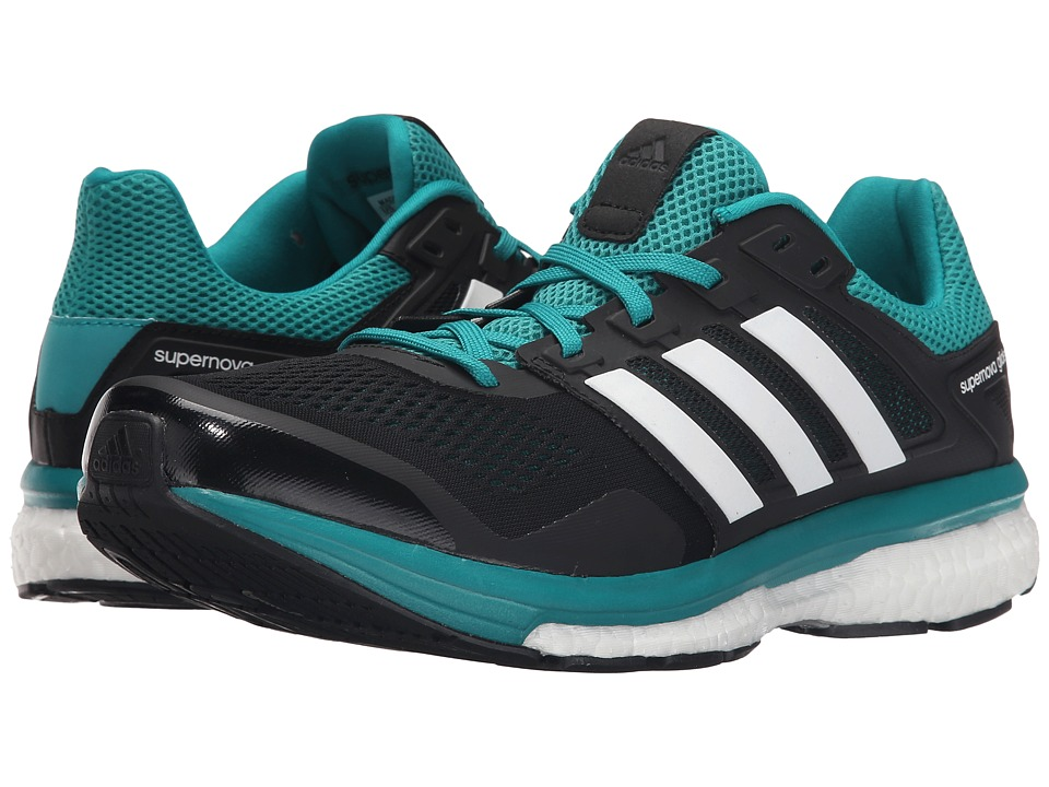 adidas Running Supernova Glide 8 Black/White/EQT Green Mens Running Shoes