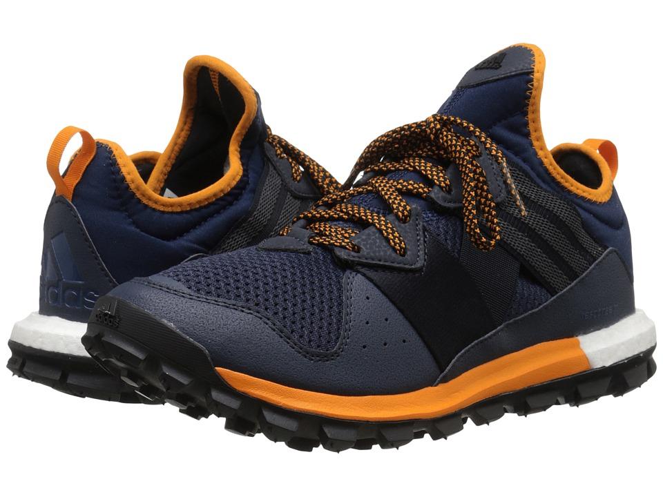 adidas Running - Response Trail BOOST (Collegiate Navy/Mineral Blue/EQT Orange) Men