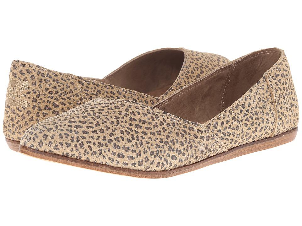 TOMS Jutti Flat (Cheetah Suede Printed) Women