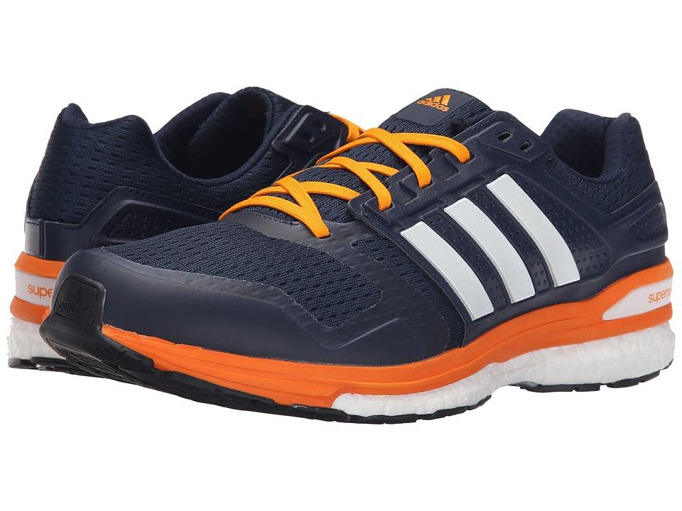 adidas Running - Supernova Sequence 8 (Collegiate Navy/White/EQT Orange) Men