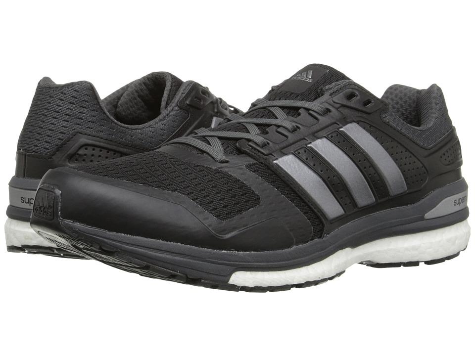 adidas Running Supernova Sequence 8 Black/Iron Metallic/DGH Solid Grey Mens Running Shoes
